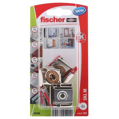 Fischer metalen spiegelklem SKL M + nylon plug 6x30 4st.