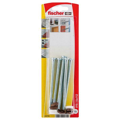 Vis de fixation Fischer 'FFSZ' 7,5 x 112 mm - 6 pcs