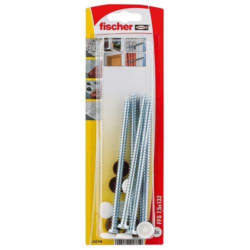 Vis de fixation Fischer 'FFSZ' 7,5 x 132 mm - 6 pcs