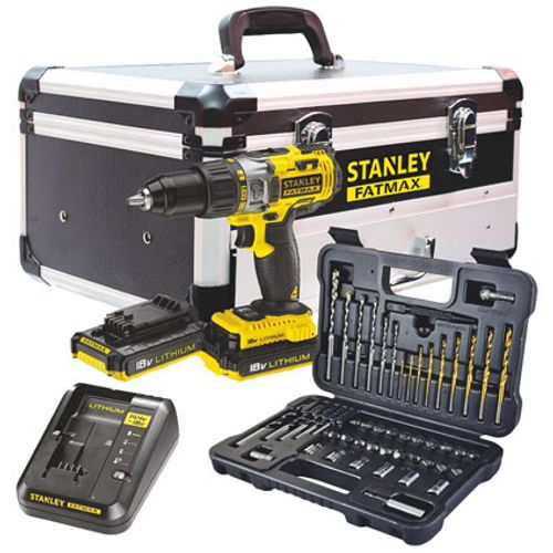 Stanley schroef- en klopboormachine Fatmax FMC 18V