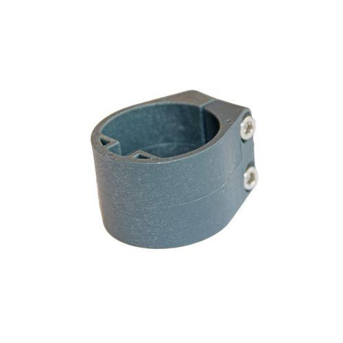 Collier milieu pour poteau profilé Giardino gris