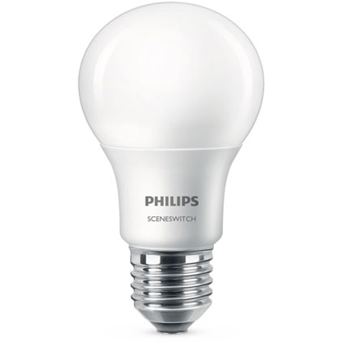 Philips LED lamp A60 E27-60W-sceneswitch-1 stuk