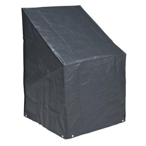 Nature beschermhoes voor gestapelde stoelen PE 100 g/m² antraciet 110x68x68cm