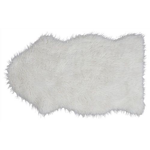 Imitatie schapenvacht Dolly wit 100 x 60cm