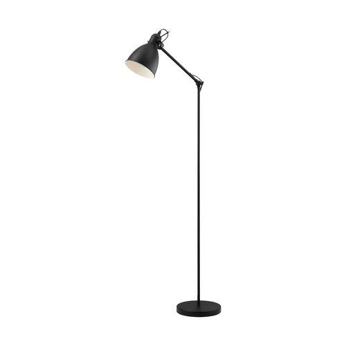 EGLO vloerlamp Priddy zwart E27
