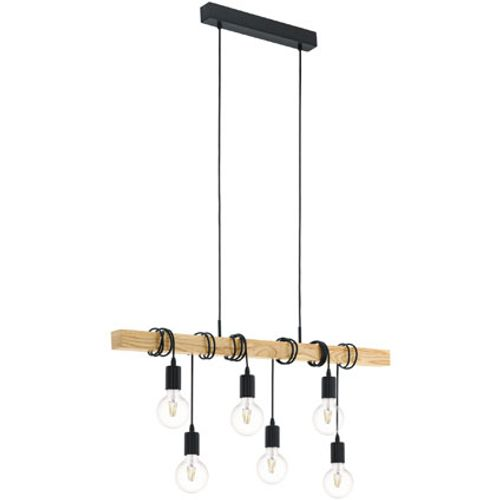 Suspension Eglo Townshend noir 6x60W