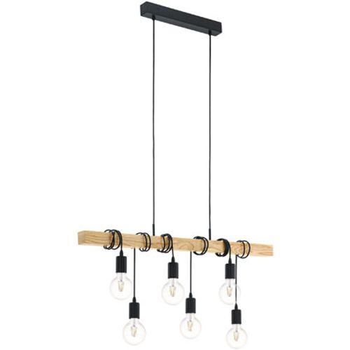 EGLO hanglamp Townshend zwart 6x60W