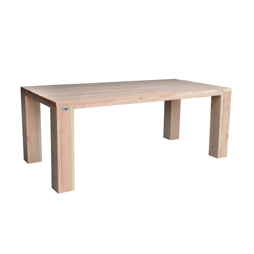 Wood4You tafel blokpoot douglashout bruin 200x95cm