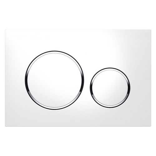 Geberit bedieningspaneel Sigma20 frontbediening 16,4x24,6x1,1cm wit/chroom