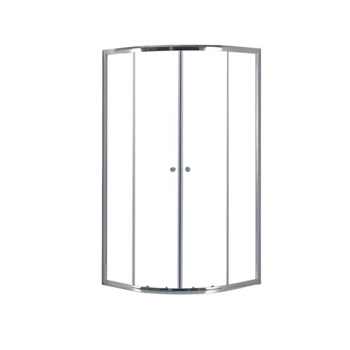 AquaVive 1/4 round shower enclosure sicilie 90cm chrome