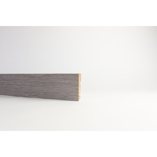Plint MDF grijs eik 1,2x6cm