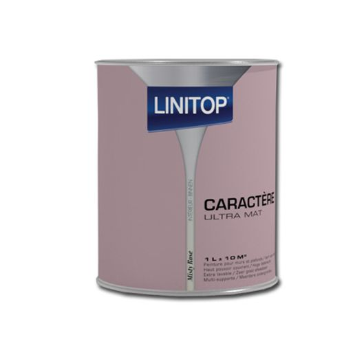 Peinture murs et plafonds Linitop 'Caractere' misty rose mat 1L