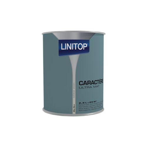 Peinture murs et plafonds Linitop 'Caractere' blue haze mat 2,5L