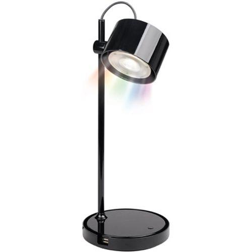 iDual Jasmine LED tafellamp glanzend zwart dimbaar met afstandsbediening