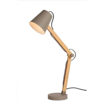Lucide tafellamp 'Tony' taupe 40 W