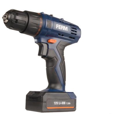 FERM accuboormachine CDM1119 12V 1.5Ah