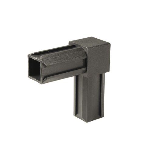 GAH Alberts XD-buisverbinder 90° kunststof zwart 20 x 20 mm