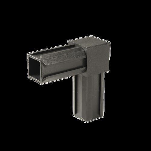 Raccord 90° pour tube GAH Alberts 'XD' pvc noir 20 x 20 mm