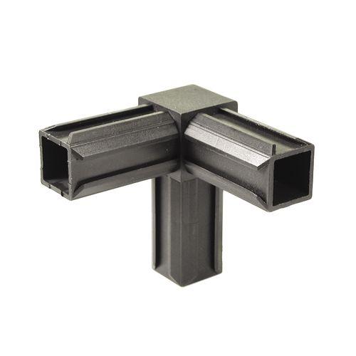GAH Alberts XD-buisverbinder 90° met rechthoekig verloop kunststof 20 x 20 mm