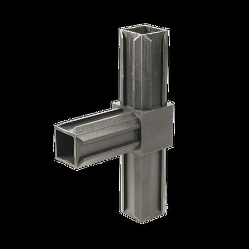 Raccord en T pour tube GAH Alberts 'XD' pvc noir 20 x 20 mm
