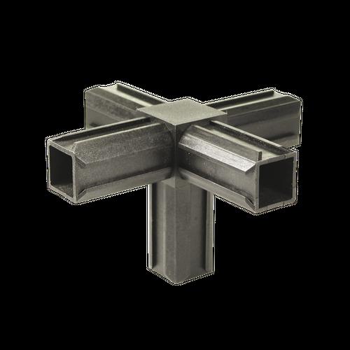 Raccord en croix pour tube GAH Alberts 'XD' pvc noir 20 x 20 mm