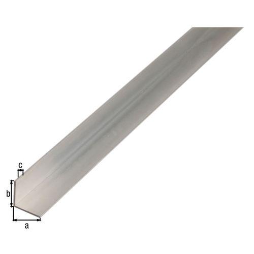 GAH Alberts L-profiel aluminium grijs 2 m x 1 cm