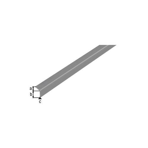 GAH Alberts L-hoekprofiel zelfklevend aluminium 20x20x1mm 2cm