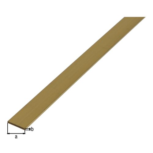 Profilé plat GAH Alberts laiton 1 m x 1 cm