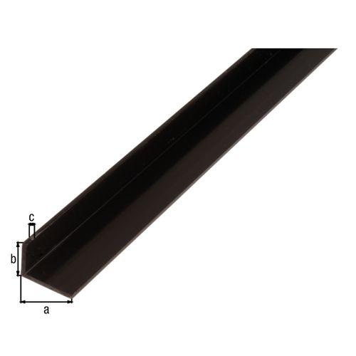 GAH Alberts hoekprofiel kunststof zwart 30x20x3mm 2m