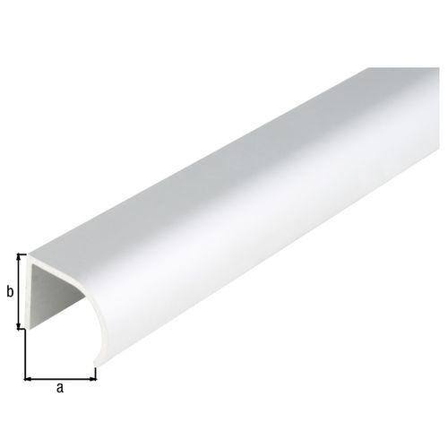 Profilé arrondi GAH Alberts aluminium gris 1 m x 2,5 cm