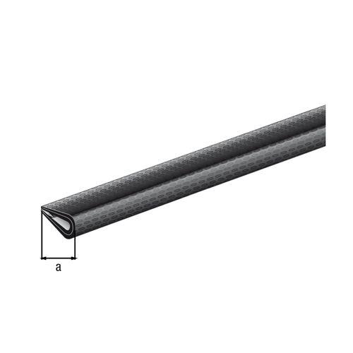 GAH Alberts kantbeschermer pvc zwart 10x7mm 1,5m