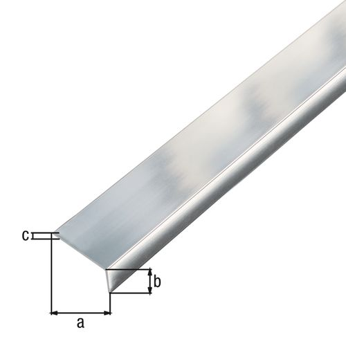 GAH Alberts L-profiel zelfklevend aluminium 20x10x1mm 1m