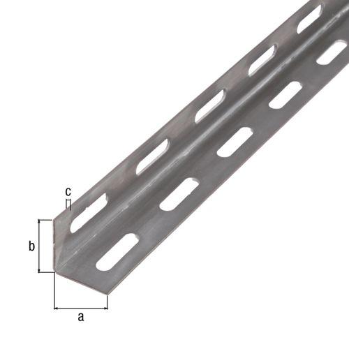 Profilé L GAH Alberts acier gris 1 m x 2,7 cm