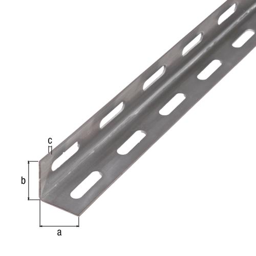 GAH Alberts L-profiel staal grijs 1 m x 2,7 cm