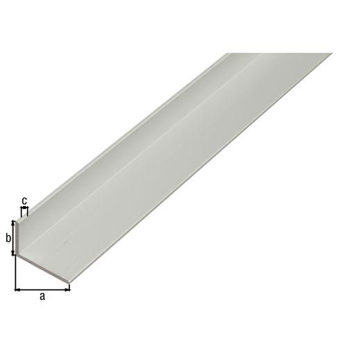 Profilé L GAH Alberts aluminium gris 2 m x 4 cm