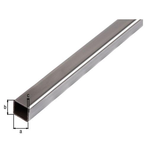 Tube carré acier GAH Alberts gris 2 m x 3 cm