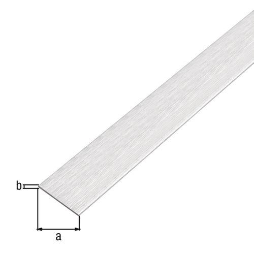 Profilé plat GAH Alberts aluminium gris clair 2 m x 2 cm