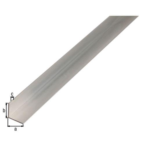 Profilé L GAH Alberts aluminium gris 2 m x 3 cm