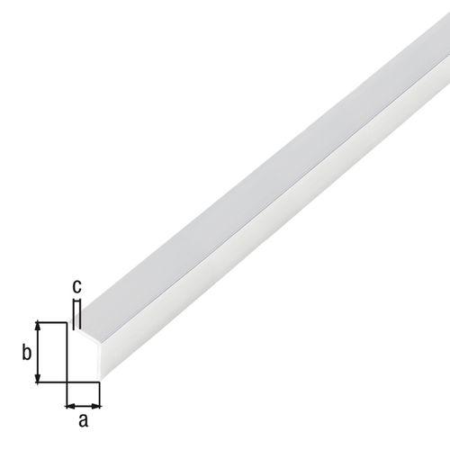 Profilé L autoadhésif GAH Alberts aluminium gris 2 m x 1 cm