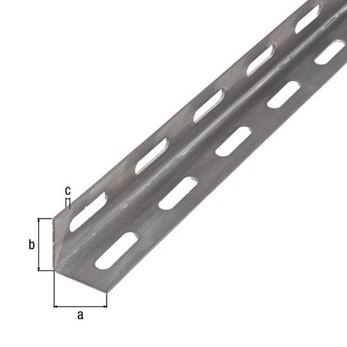 Profilé L GAH Alberts acier blanc 2 m x 2,7 cm