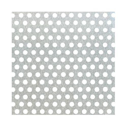 Tôle GAH Alberts aluminium perforé gris 100 x 12 cm x 0,8 mm