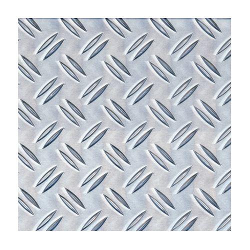 Tôle GAH Alberts aluminium grain de riz gris 100 x 20 cm x 1 mm