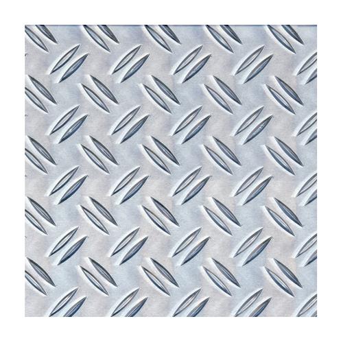 GAH Alberts plaat aluminium structuur grijs 100 x 20 cm x 1 mm