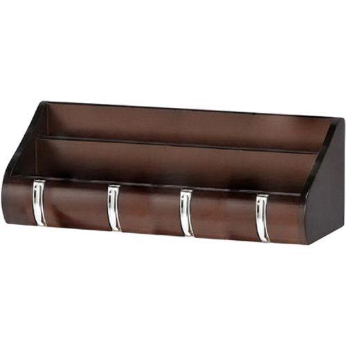 Best Home Products wandkapstok bruin 4 haken