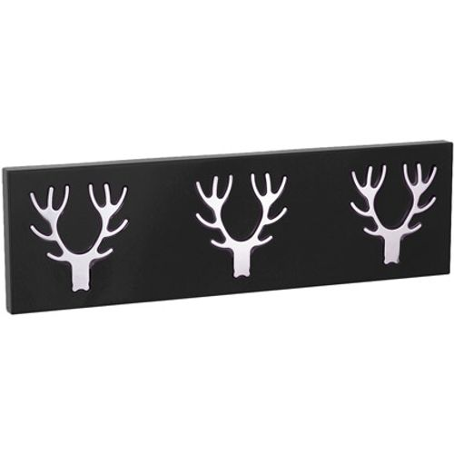 Best Home Products wandkapstok 3-delig zwart