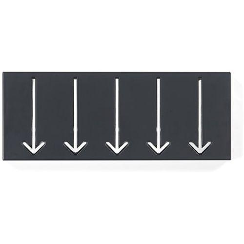 Best Home Products wandkapstok zwart 3 haken
