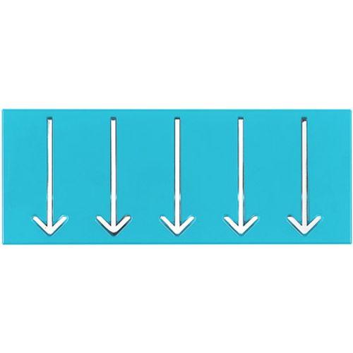 Best Home Products wandkapstok blauw 3 haken