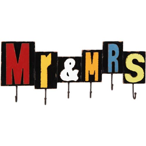 Best Home Products wandkapstok Mr & Mrs 6 haken