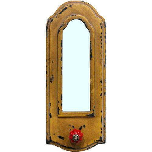 Best Home Products wandkapstok spiegel geel 1 haak