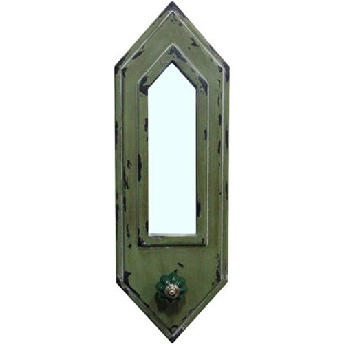 Best Home Products wandkapstok spiegel groen 1 haak
